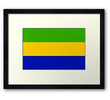 Gabon, national id Framed Print