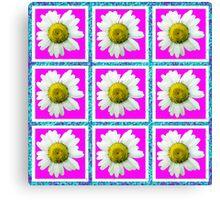 Daisies and Blocks Canvas Print
