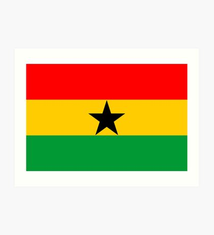 Ghana, national id Art Print