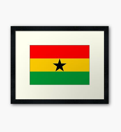 Ghana, national id Framed Print