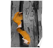 Orange Texture Poster