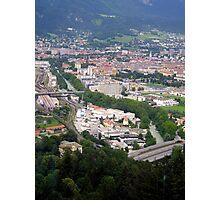 Innsbruck and the Inn River Photographic Print