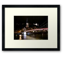 Footbridge in night Framed Print