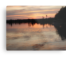 Sunset July 17, 2009 Metal Print