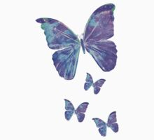 Purple Butterflies by Jan Marvin Kids Tee