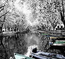 Boats at Annecy, France by Anna Shaw