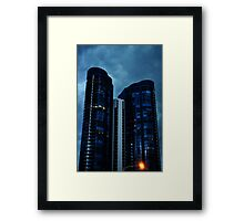 Stormy Rises Framed Print