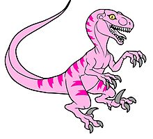 Vintage velociraptor neon pink by nyctherion