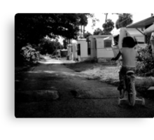 Early Morning ride : Trailer Park America Series  Canvas Print