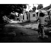 Early Morning ride : Trailer Park America Series  Photographic Print