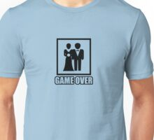 Game over b&w Unisex T-Shirt