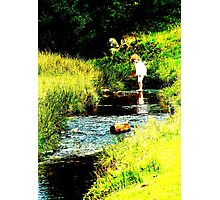 Unknown Paddler Photographic Print