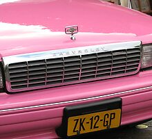 Pink Chevrolet in The Hague by Hans Bax
