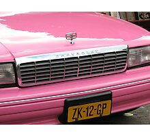 Pink Chevrolet in The Hague Photographic Print