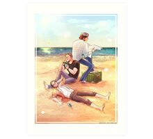 Sand between our Toes, Sammy Art Print