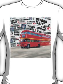 Classic Red London Double decker Routemaster Bus T-Shirt