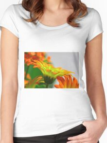 Light Bulb Flower Women's Fitted Scoop T-Shirt