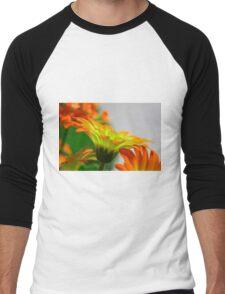 Light Bulb Flower Men's Baseball ¾ T-Shirt
