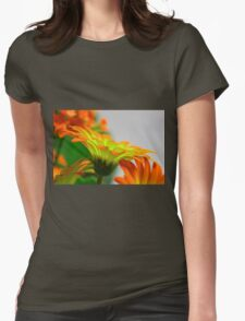 Light Bulb Flower Womens Fitted T-Shirt