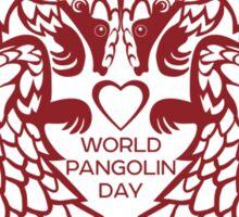 Love Pangolin - World Pangolin Day Sticker