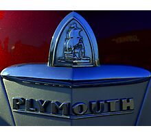 1946 Plymouth Trunk Emblem Photographic Print