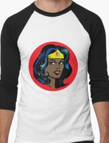 Wonder Woman Pop Art Men's Baseball ¾ T-Shirt