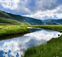 Reflection in Glen Esk by Panalot
