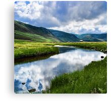 Reflection in Glen Esk Canvas Print