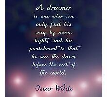 Oscar Wilde Dreamer Photographic Print