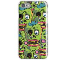A bunch of Zombie Skulls iPhone Case/Skin