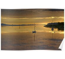 Sunrise on the River Tay Poster
