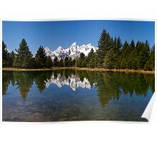 Midday Calm at Schwabacher Landing Poster
