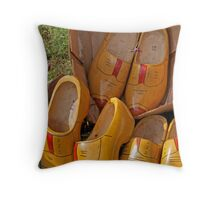 Wooden Shoes For Sale Throw Pillow