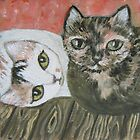 Calico &amp; Tortie by sharonkfolkart