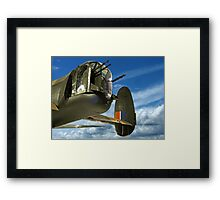 Tail End Charlie - Lancaster - R.A.F. Museum - Hendon Framed Print