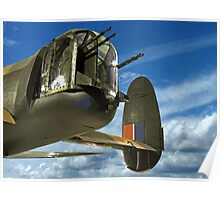 Tail End Charlie - Lancaster - R.A.F. Museum - Hendon Poster