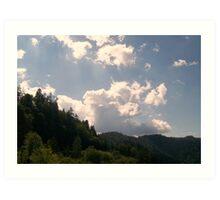 Majestic Clouds Art Print