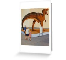 Study for Museum II (T-Rex) Greeting Card