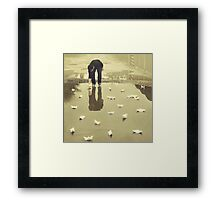 Are you puddled? Framed Print