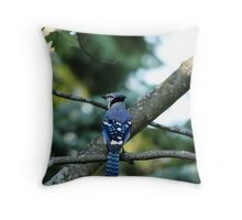 Singing The Blues - Blue Jay Throw Pillow