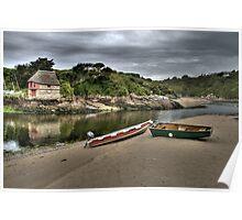 Boat house at Bantham, South Hams, Devon Poster