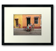 on the streets... Framed Print
