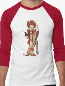 The Fourth Doctor [Who] Men's Baseball ¾ T-Shirt