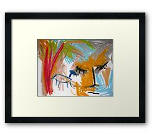 A Blue Horse Framed Print