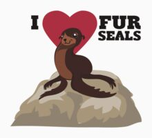 Love Fur Seals One Piece - Short Sleeve