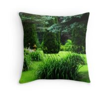 Greenscape Throw Pillow
