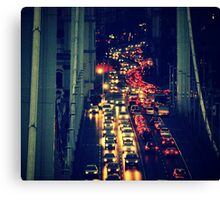 friday afternoon rush hour Canvas Print