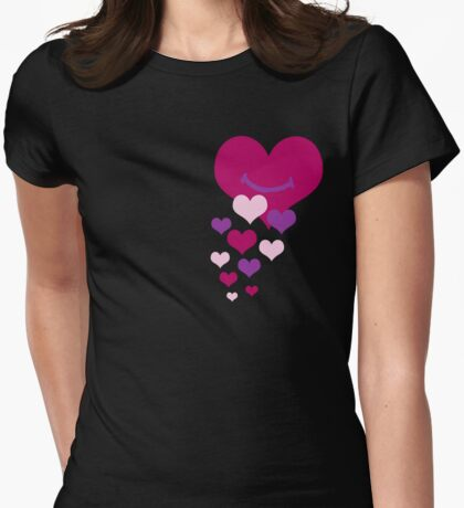 You make my heart smile Womens Fitted T-Shirt