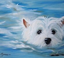 Swimmer by marysparrowart