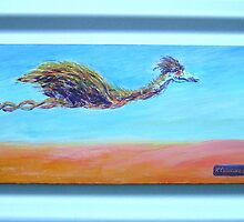 Holmes - The Flying Emu by Kay Cunningham